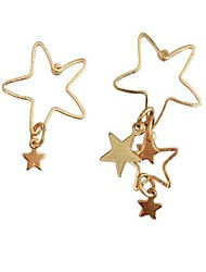 Women's Stud Earrings Fashion Personalized Cute Style Mismatch Costume Jewelry Alloy Star Jewelry For Daily Holiday Beach