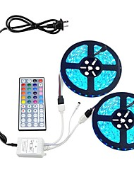 KWBLed Light Strip Kit 5050 10M(2*5M) 600leds RGB 60leds/m with 44key Ir Controller and 6A Power Supply
