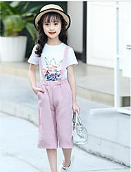 Girls' Others Sets,Cotton Summer Short Sleeve Clothing Set