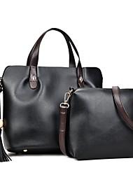 Damen Bag Sets PU Ganzjährig Normal Baguette Bag Reißverschluss Schwarz Rote Dunkelgray Grau