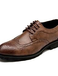 Для мужчин обувь Кожа Весна Лето Осень Зима Удобная обувь Формальная обувь Туфли на шнуровке Шнуровка Назначение Повседневные Для