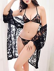 Lingerie en Dentelle Vêtement de nuit Femme,Sexy Jacquard Spandex