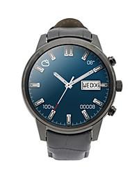 Men's Smart Watch Digital Leather Band Black Grey