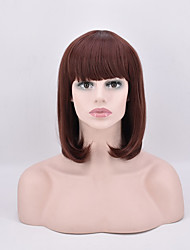 Short Straight Bobo Brown Color Synthetic Wigs High Temperature Fiber 12inch For Women Wig