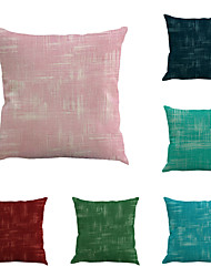Set Of 6 Solid Color Pillow Cover Simple Classic Pillow Case Fashion Sofa Cushion Cover