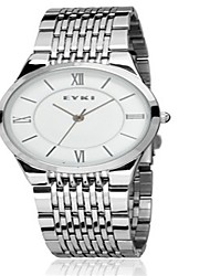 Men's Fashion Watch Quartz Stainless Steel Band Silver