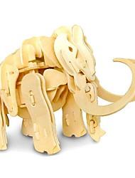 Kids Toys  Wood Assembling Model Voice Walking Roar Mammoth MX7214-0006