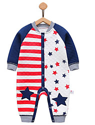 Baby Stripe One-Pieces,Cotton Fall Winter