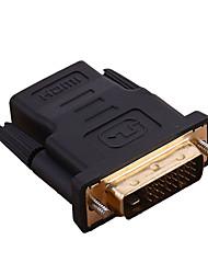DVI Adattatore, DVI to HDMI 1.4 Adattatore Maschio/femmina 1080P