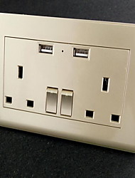 Electrical Outlets Stainless Steel With USB Charger Outlet 10*9*6