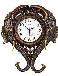 Модерн Традиционный Деревенский Повседневный Ретро Животные Настенные часы,Слон Животные Резина В помещении Часы