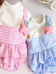 Chien Robe Vêtements pour Chien Soirée Anniversaire Décontracté / Quotidien Mariage Mode Halloween Princesse Bleu Rose
