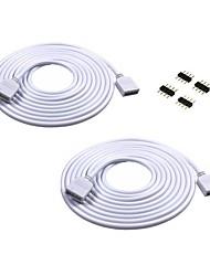 Cabo de extensão 2pcs de 2m de comprimento Conecte o plugue fêmea para rgb 3528 5050 strip com conectores 4pcs 4pin macho