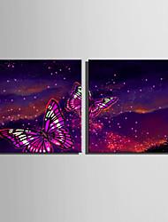 Cuadros con LEDs Dos Paneles Lienzos Estampado Decoración de pared For Decoración hogareña