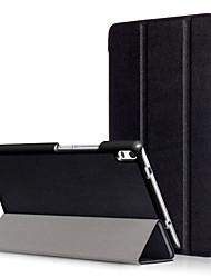 Pu cubierta para lenovo tab4 tab 4 8 más tb-8704f tb-8704n 8704 con protector de pantalla