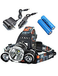 LS052 Lampes Frontales Eclairage de Vélo / bicyclette LED 5000 Lumens 4.0 Mode Cree XM-L T6 Résistant aux impacts Rechargeable Imperméable