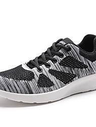 Men's Sneakers Light Soles Knit Fall Winter Casual Outdoor Low Heel Light Grey Dark Grey Black Under 1in