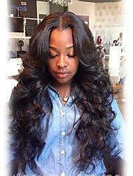 Ženy Dlouhý Černá Vlnité Umělé vlasy Bez krytky Přírodní paruka paruky