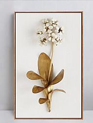 Цветочные мотивы/ботанический Масляная картина в раме Предметы искусства,Полистирен материал с рамкой For Украшение домаПредметы