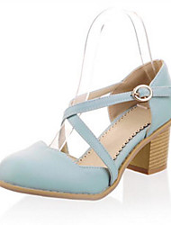 Women's Sandals Comfort PU Spring Casual Comfort Blushing Pink Blue 1in-1 3/4in