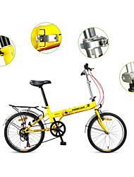Bicicleta Dobrável Ciclismo 7 Velocidade 20 polegadas YINXING Freio em V Sem Amortecedor Quadro de Aço Dobrável Sem AmortecedorComum