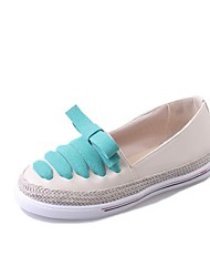 Women's Flats Formal Shoes PU Fall Casual Office & Career Dress Walking Bowknot Flat Heel Green Black Under 1in