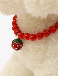 Pearl strawberry bell collar bowknot collier diy pearl collier attacher les sacs à main