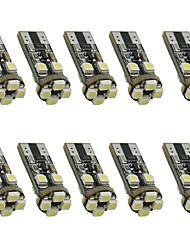 10pcs 1.5w белый dc12v t10 8led 3528smd светодиодный фонарик для автомобилей свет лампы декоративный светильник для чтения лампа