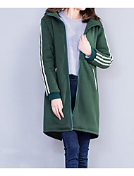 Women's Going out Casual/Daily Street chic Hoodie Solid Hooded Micro-elastic Cotton Long Sleeve Fall Winter