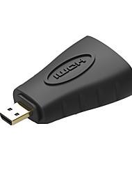 VENTION Micro HDMI Adaptador, Micro HDMI to HDMI 1.4 Adaptador Macho - Hembra 1080P Cobre dorado