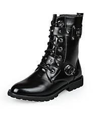 Men's Boots Motorcycle Boots Snow Boots Fashion Boots Winter Synthetic Microfiber PU Casual Outdoor Office & Career Party & Evening