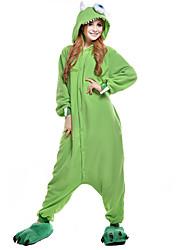 Kigurumi Pijamas nueva Cosplay® Monster Leotardo/Pijama Mono Festival/Celebración Ropa de Noche de los Animales Halloween Verde Retazos