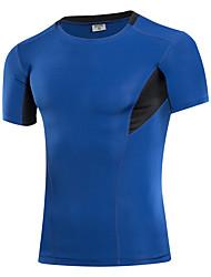 Homme Couche de Base Manches Courtes Respirabilité Extensible Anti-transpiration Tee-shirt Shirt Survêtement Hauts/Top pour Course