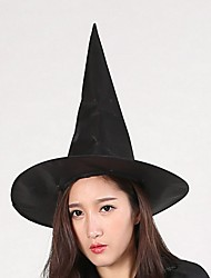 Halloween Witch's Hat The Wizard Hat Harry Potter Hat Pure Black Peaked Cap