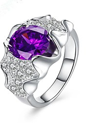 May Polly  Hot fashion 925 silver plated purple Gemstone Ring
