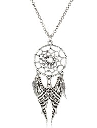 Bohemia Long Tassel Dream Catcher Necklaces Women Vintage Turquoise Feathers Charm Necklaces & Pendants Jewelry
