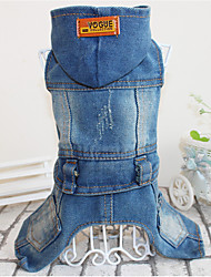 Dog Denim Jacket/Jeans Jacket Dog Clothes Casual/Daily Solid Blue