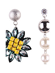 Fashion Women Fruit Pearl Tassel Drop Mismatching Earrings