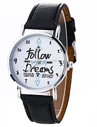 Mulheres Relógio de Moda Relógio de Pulso Relógio Casual Chinês Quartzo PU Banda Casual Preta Branco Azul Marrom Verde Rosa Rose