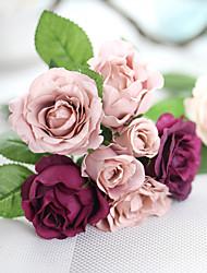 1 шт. 1 Филиал Шелк Полиэстер Розы Букеты на стол Искусственные Цветы