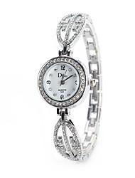 Mujer Reloj de Vestir Reloj de Moda Reloj de Pulsera Simulado Diamante Reloj Chino Cuarzo La imitación de diamante Aleación Banda Cosecha