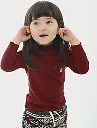 Childrens' Fashionable Cool  Winter Hot Style High Neck Wool Eyes Long-Sleeved Tunic Backing Shirt