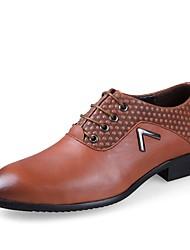 Для мужчин обувь Натуральная кожа Наппа Leather Кожа Весна Осень Удобная обувь Формальная обувь Обувь для дайвинга Туфли на шнуровке