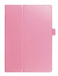Сплошной цвет личи узор pu кожаный чехол с подставкой для lenovo tab 4 10,0-дюймовый планшетный ПК