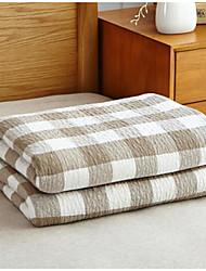 Tricotado Xadrez Mistura de Algodão cobertores