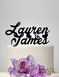 Personalized Acrylic Bride And Groom Name Wedding Cake Topper