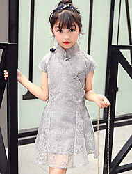Girl's Solid Dress,Others Summer