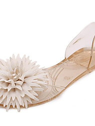 Women's Flats Comfort PVC Summer Casual Champagne Black White Flat