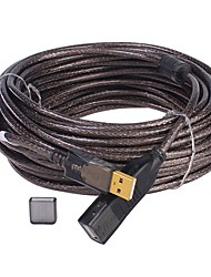 USB 2.0 Prolunga, USB 2.0 to USB 2.0 Prolunga Maschio/femmina 20,0 (60ft)