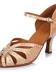 2017 Classic Brand Professional Modern Latin Sandals Customizable Women's Dance Shoes  Heel-Height 6.5CM shoes Beige